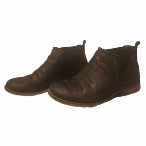 Josef seibel women's black pebbled leather Chelsea boots